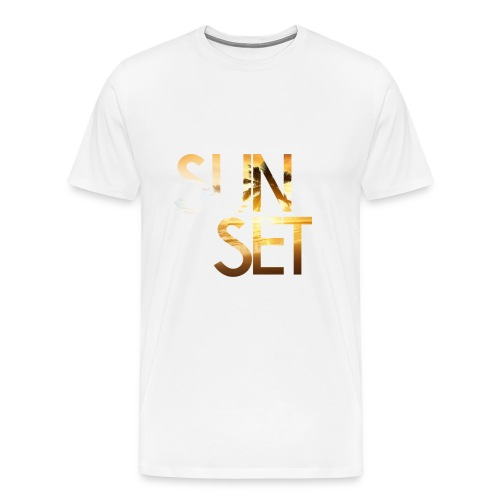 Sunset - Maglietta Premium da uomo