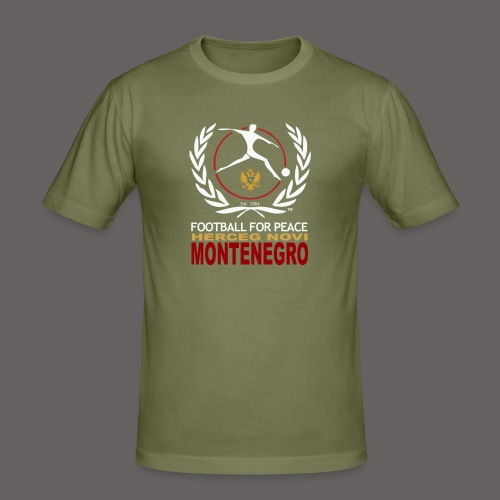 Football For Peace Montenegro T-Shirt - Men's Slim Fit T-Shirt