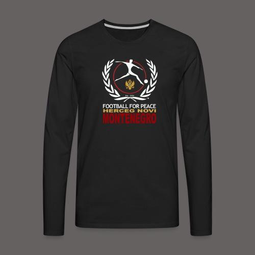 Football For Peace Montenegro Long Sleeve Shirt - Men's Premium Longsleeve Shirt