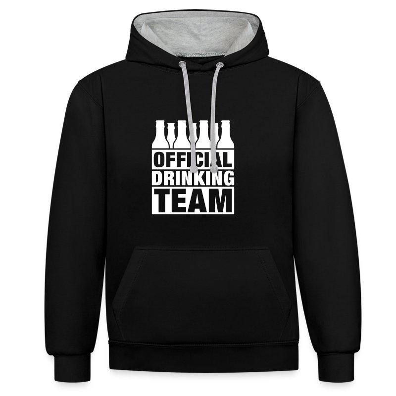 Official Drinking Team Sweater - Contrast hoodie