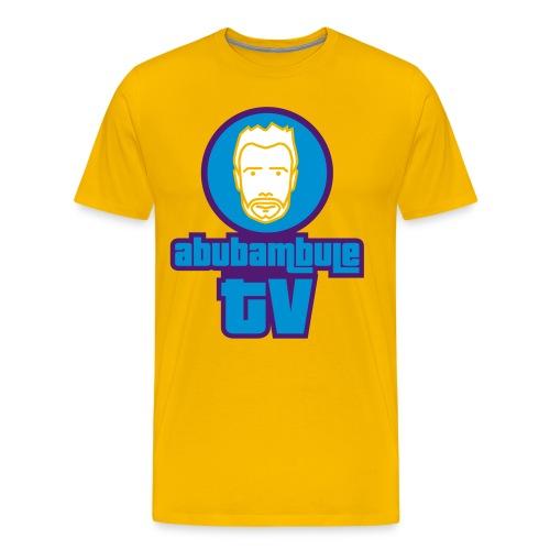 Herren T-Shirt - Abubambule TV Logo (dreifarbig) in verschiedenen Farben - Männer Premium T-Shirt