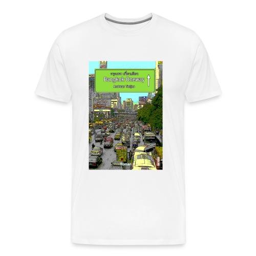 Männer Premium T-Shirt Bangkok Oneway, Weiß - Männer Premium T-Shirt