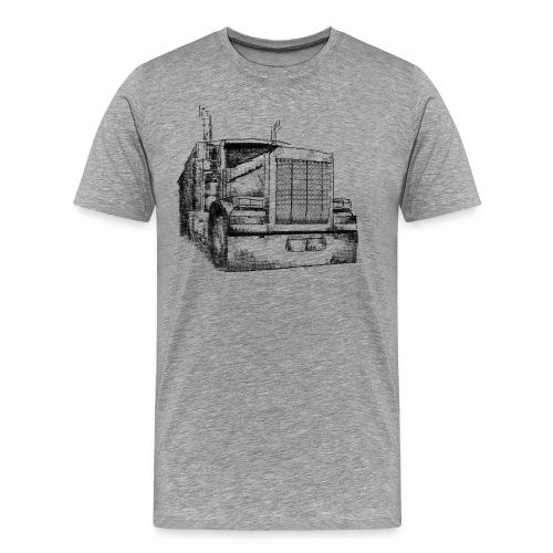 Typewriter Truck - Männer Premium T-Shirt