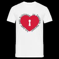 T-Shirts ~ Männer T-Shirt ~ Herz mit Schlüsselloch
