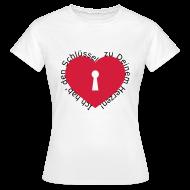 T-Shirts ~ Frauen T-Shirt ~ Herz mit Schlüsselloch