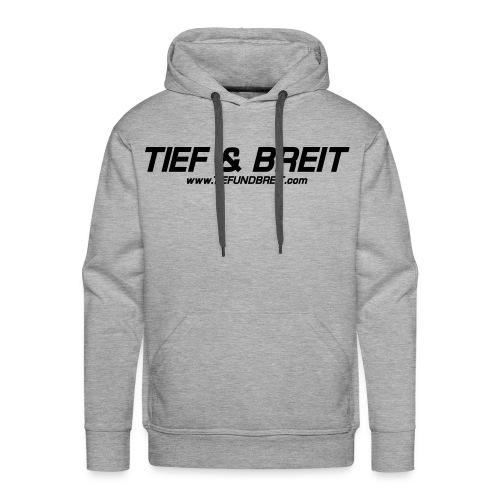 Tief & Breit Logo Black Hoodie - Männer Premium Hoodie