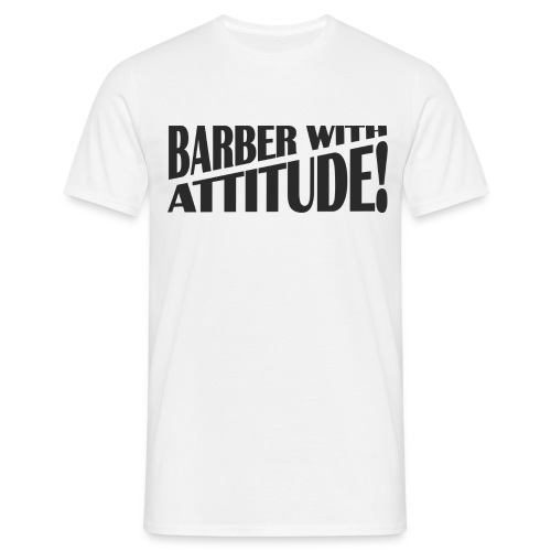 Mens Basic T-Shirt Barber With Attitude - Men's T-Shirt