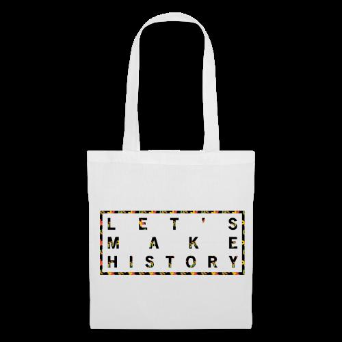 Let's make history vit - Tygväska