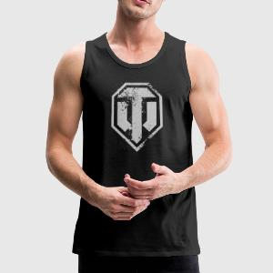 World of Tanks Used Logo Männer Tank Top - Männer Premium Tank Top
