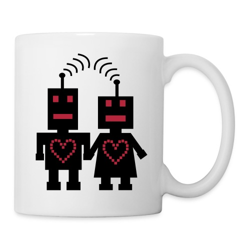 Roboter Liebe Nerd Tasse - Tasse