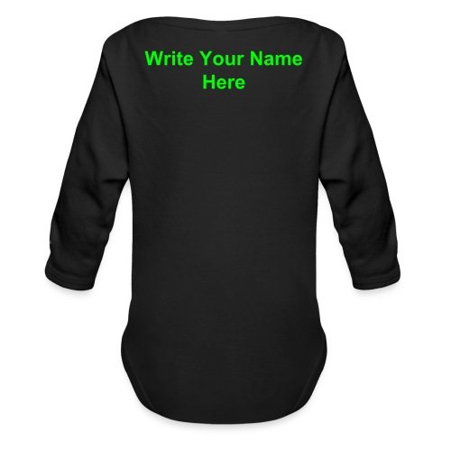LSOH Baby Grow T-Shirt with Name on back. - Organic Longsleeve Baby Bodysuit