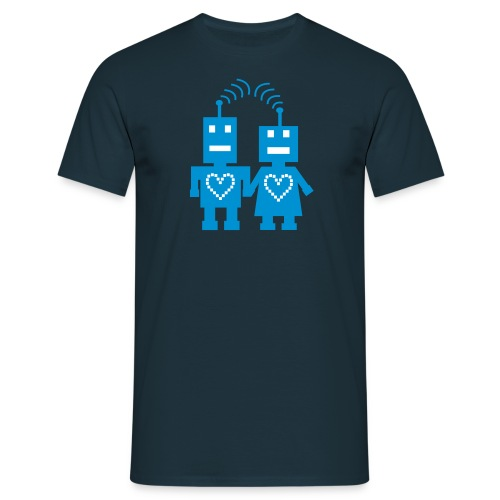 Roboter Liebe Nerd T-Shirt - Männer T-Shirt