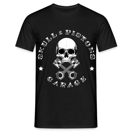 Skull & Pistons Garage Classic T-Shirt - Men's - Men's T-Shirt