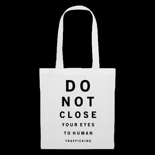 Do not close your eyes vit - Tygväska