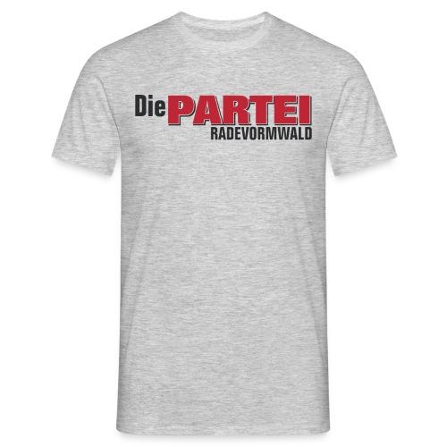 Herren T-Shirt Rade Irgendwas grau - Männer T-Shirt