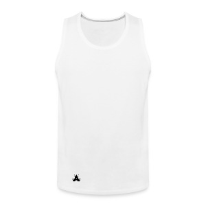 Icon Tank Top - Black on White - Men's Premium Tank Top