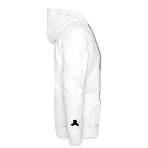 Icon Hoodie - Black on White - Men's Premium Hoodie