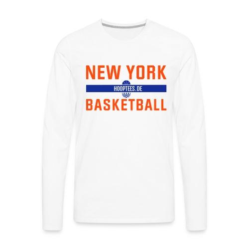 New York Basketball Longsleeve - Männer Premium Langarmshirt