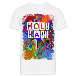Psychedelic Holi Power Flower - Männer T-Shirt