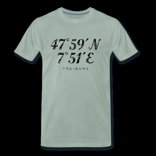 Freiburg Koordinaten Vintage (Schwarz) S-5XL T-Shirt - Männer Premium T-Shirt