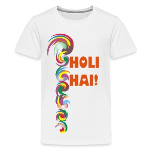 Holi Spiral Flash - Teenager Premium T-Shirt