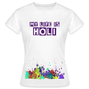 Holi Splat Painting / Klecks Malerei - Frauen T-Shirt