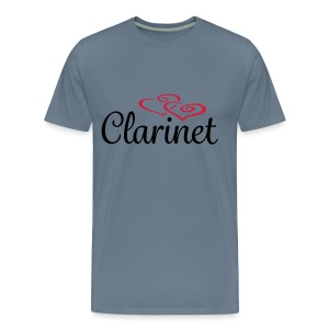 Clarinet Hearts - Men's Premium T-Shirt