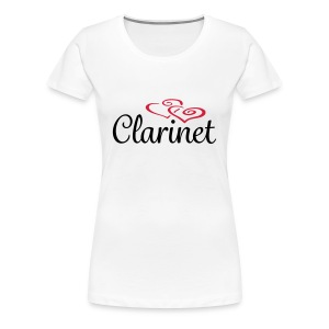 Clarinet Hearts - Women's Premium T-Shirt