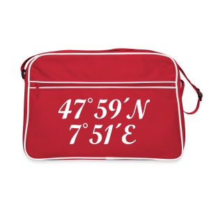 Freiburg Koordinaten (Schwarz) Retrotasche - Retro Tasche