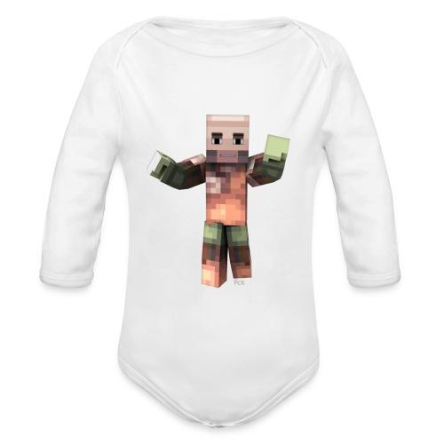 Body manga larga bebé SrPol Minecraft - Organic Longsleeve Baby Bodysuit