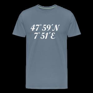 Freiburg Koordinaten (Weiß) S-5XL T-Shirt - Männer Premium T-Shirt