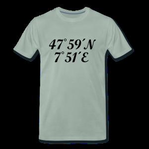 Freiburg Koordinaten (Schwarz) S-5XL T-Shirt - Männer Premium T-Shirt