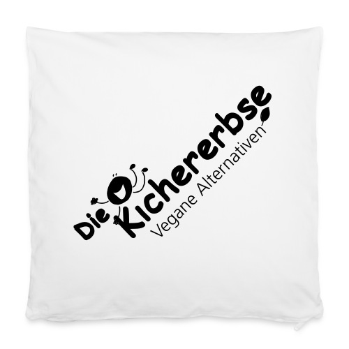 Kissenbezug, Logo Kichererbse - Kissenbezug 40 x 40 cm
