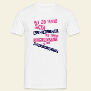 Je ne suis pas alcoolique - T-shirt Homme
