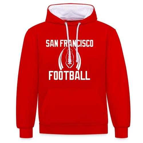 San Francisco Hoodie - Kontrast-Hoodie