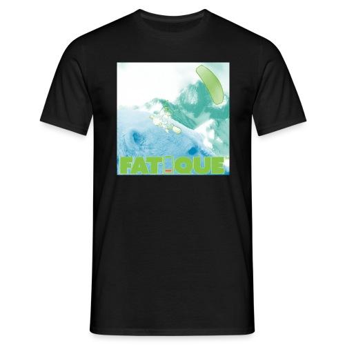 Polarbear kite mountain green T Black - Miesten t-paita