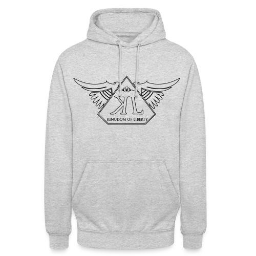 Sweat Gris Logo Noir - Sweat-shirt à capuche unisexe
