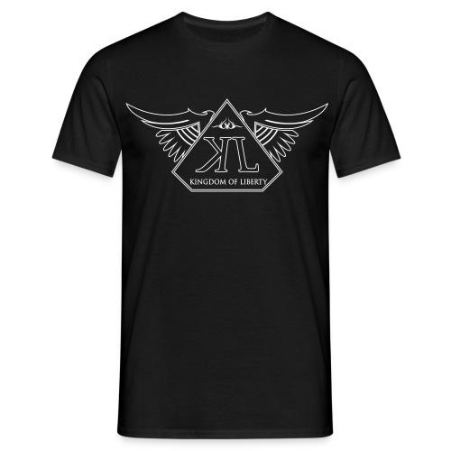 T-shirt Noir Col Rond Homme Logo Blanc - T-shirt Homme