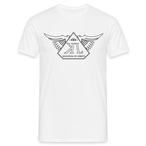 T-Shirt Blanc A Col Rond Logo Noir - T-shirt Homme