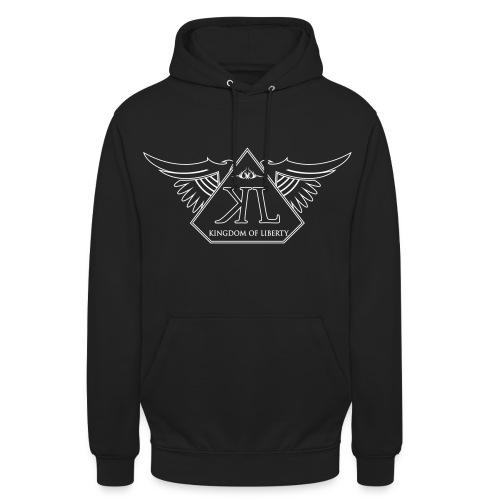 Sweat Noir Logo Blanc  - Sweat-shirt à capuche unisexe