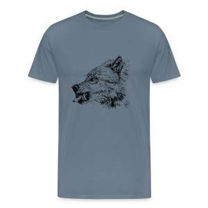 men's shirt snarling wolf - Men's Premium T-Shirt
