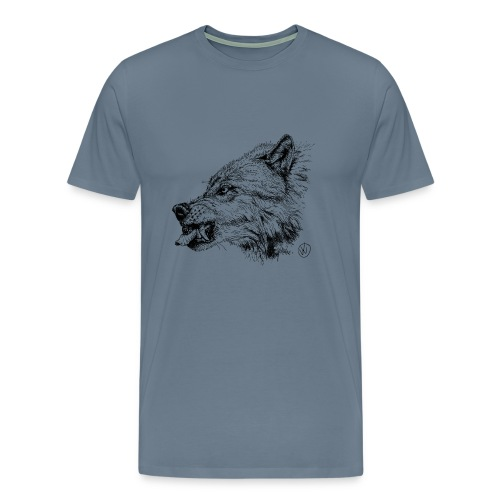 men's shirt snarling wolf - Men's Premium T-Shirt