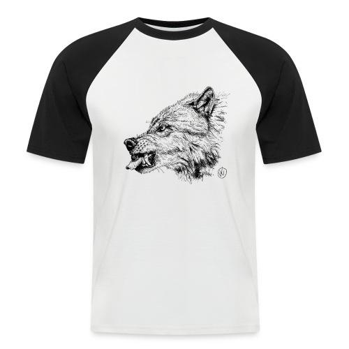 men's baseballshirt snarling wolf - Men's Baseball T-Shirt