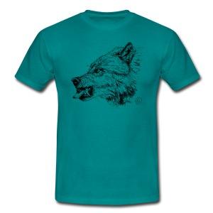 men's shirt snarling wolf - Men's T-Shirt