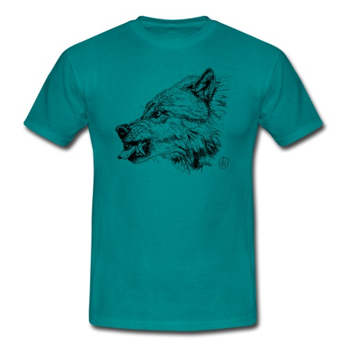 men's shirt snarling wolf - Men's T-Shirt