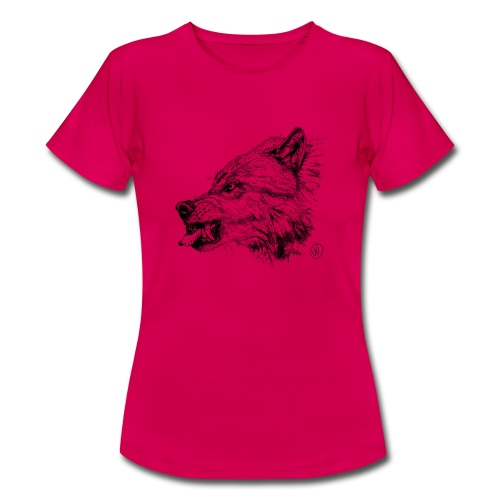 women's shirt snarling wolf - Women's T-Shirt