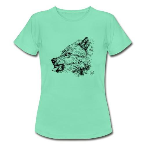 women's shirt snarling wolf - Women's T-Shirt