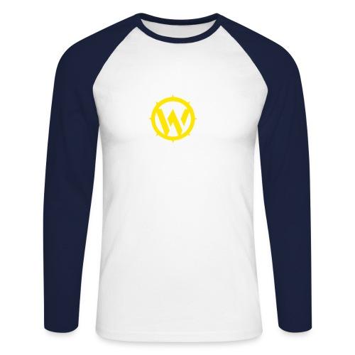 WLYP Long sleeve Shirt w/ Yellow Logo - Men's Long Sleeve Baseball T-Shirt