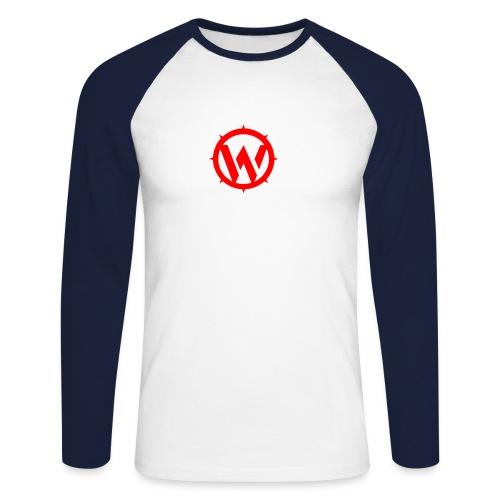 WLYP Long sleeve Shirt w/ Red Logo - Men's Long Sleeve Baseball T-Shirt