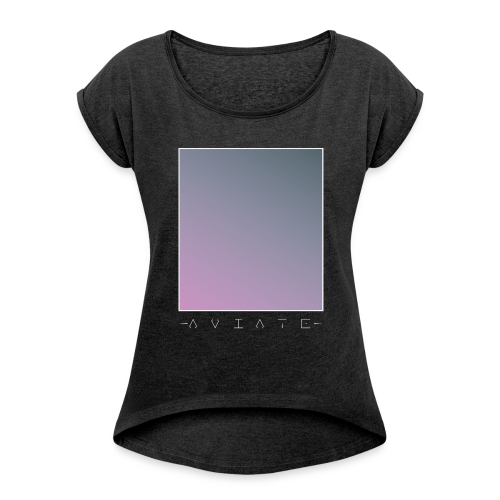 AVIATE - Tee - T-shirt med upprullade ärmar dam